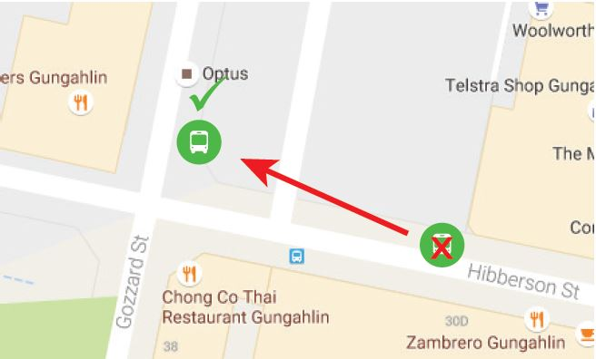 Gungahlin Bus Station Relocation 2 August 2016 - Map